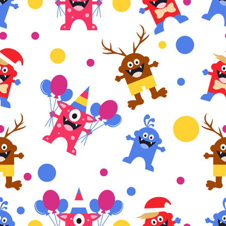 pattern monster: illustrazione design pattern monster vettore