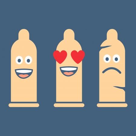 safe sex: Condom safe sex, illustration vector design  Illustration
