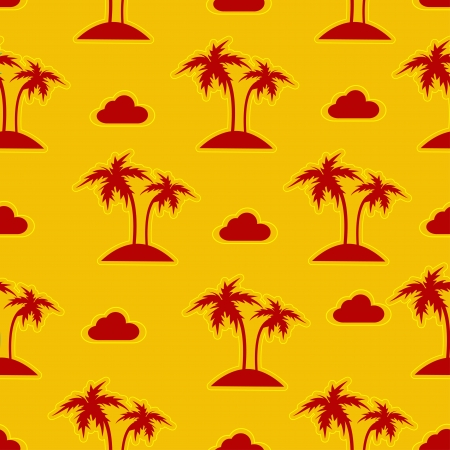 coco: Palm trees seamless pattern  Vector illustration  Illustration