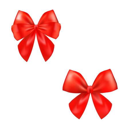 ed: ed ribbon satin bows isolated on white