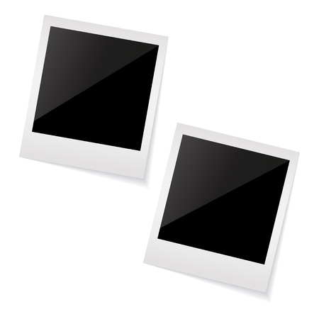 poloroid: frames isolated on white Illustration Illustration