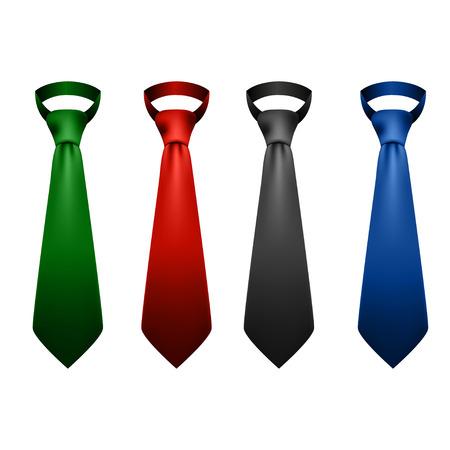 neck ties: Neck ties collection illustration Illustration