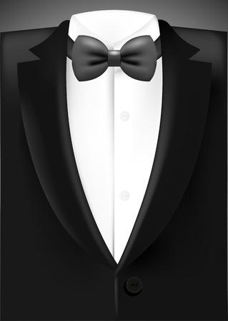 tuxedo man: Tuxedo with bow Illustration