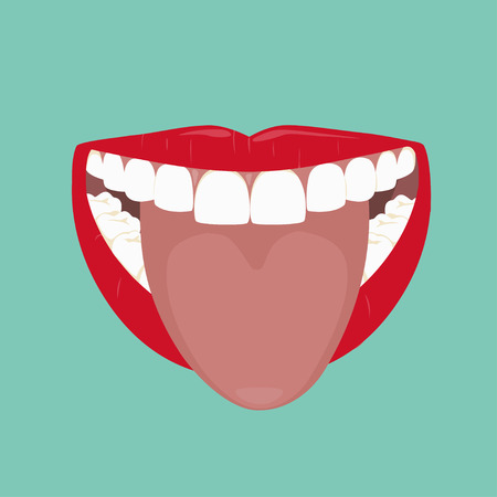 bad breath: Wide Open Mouth and Tongue
