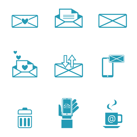 Set of icons for messages  Vector illustration  Vector