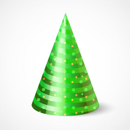 funny party hat isolated on white Ilustracja