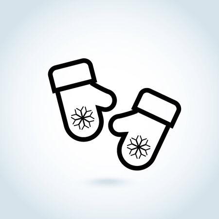 mitten: Christmas mitten icon