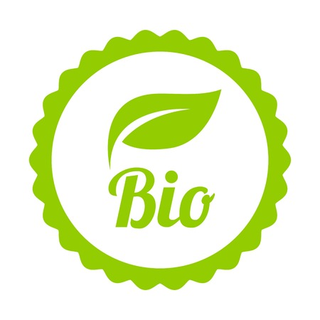 Green Bio icon or symbol isolated on white background.Vector.