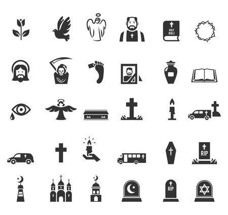 Icônes funéraires Banque d'images - 34041968