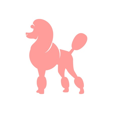 Silhouette image of poodle dog Vector