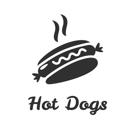 Hot dog Icon Isolated on White Background