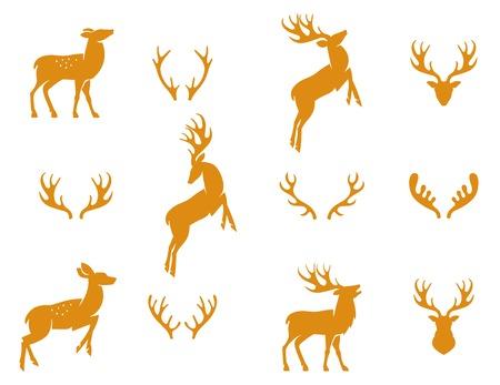 venado: Ilustraci�n del vector de la colecci�n de ciervos silueta Vectores