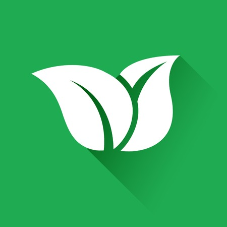 flat leaf: Leaf Icon. Flat leaf icon. Vector illustration