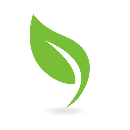 Eco icon green leaf vector illustration isolated Illusztráció