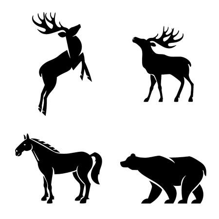 horse meat: Animal Iconic Shapes