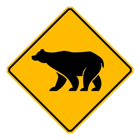 wildlife: traffic sign wildlife bear