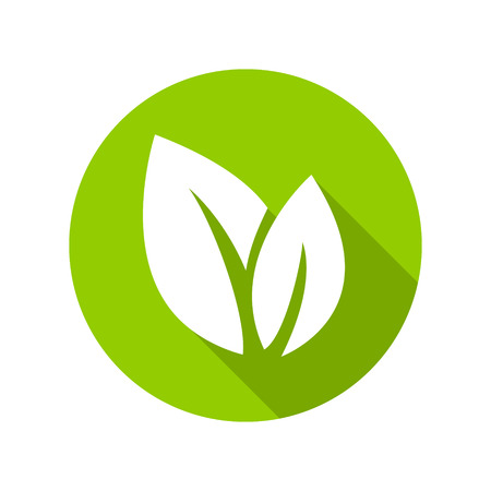 green life: Flat leaves icons. Vector illustration. Leaf Icon