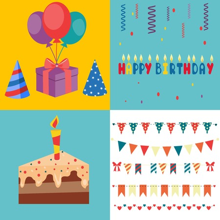 party horn blower: Birthday Party Elements - Vector Illustration. party Illustration
