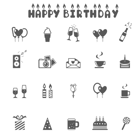 Celebration and Party Icons - vector Illustration Vector