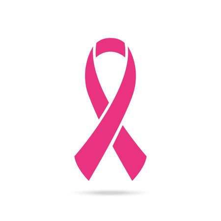 Ribbon of Breast Cancer .  Vector Illustration
