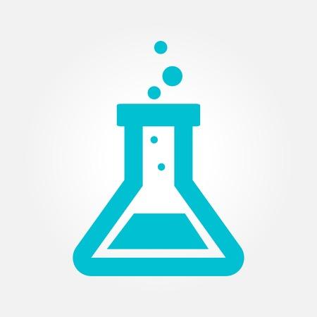 실험실 유리합니다. 화학 단순한 벡터 아이콘 플라스크.