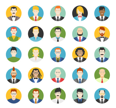 Set of avatars. Vector illustration, flat icons. Characters for web