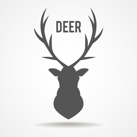 stag horn: illustration of a deer head silhouette isolated
