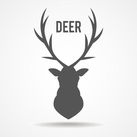 �deer: ilustraci�n de una silueta de cabeza de ciervo aislado