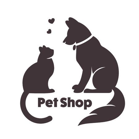 猫と犬のベクトル記号