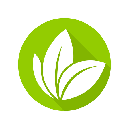 sprout growth: Flat leaves icons. Vector illustration. Leaf Icon