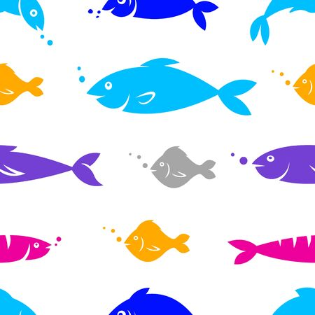 fishes: seamless pattern with fishes.