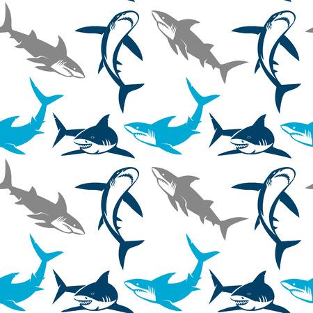 상어는 원활한 패턴 실루엣. 추상적 인 상어 기호, 디자인 요소 우아한 원활한 패턴입니다. 초대장, 인사말 카드, 스크랩북, 인쇄, 선물 포장, 제조에 사