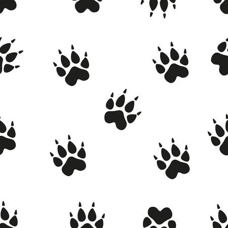 imprint: Animal footprint seamless pattern. Paw. seamless pattern with paw footprints of a dog.