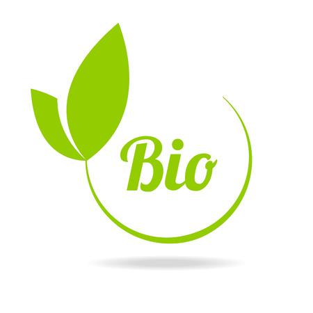 Résumé sphère verte élément de feuille de symbole conception de l'écologie. Feuille icône de forme et de l'emblème de la feuille verte. Ecologie feuille verte de l'environnement organique, feuille d'arbre.