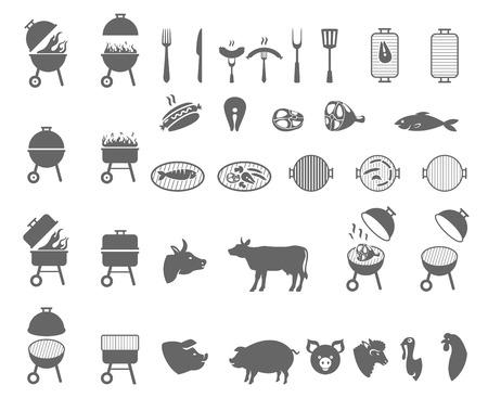 The grill icon. Barbeque symbol.