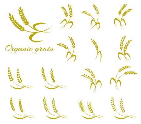 stalk: Wheat ear symbols