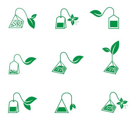Ceremonia del té. Los iconos del vector sobre un fondo blanco. Ilustración de vector