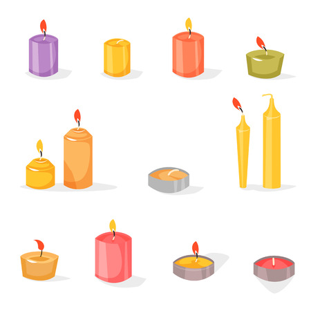 Candles in a flat style. Illustration