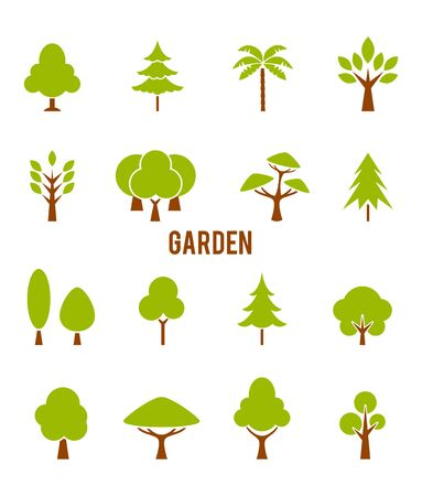 jungle plants: Large garden with a variety of trees.