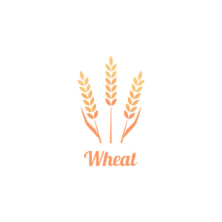 Bakery Logo Badge with wheat.