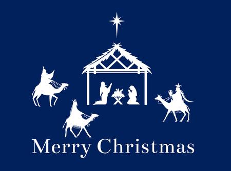 Christmas scene of Jesus in the manger.