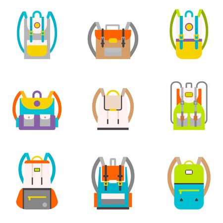 Bag icons set.