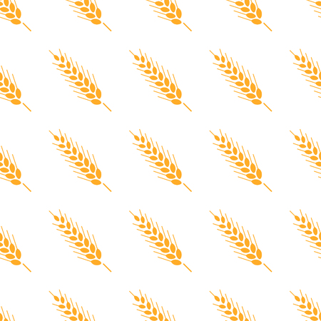 Hand drawn bakery background. Whole grain, natural, organic background for bakery package, bread products. Vector seamless pattern illustration ears of wheat.
