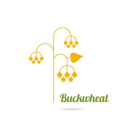 Icon of buckwheat isolated on white background. Illustration
