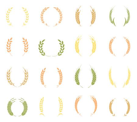 Gold laurel wreath - a symbol of the winner illustration. Иллюстрация