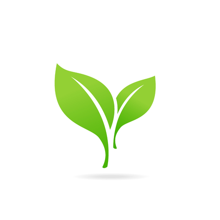 Element for eco and bio logo. Green Leaf Icon. Abstract sphere green leaf logo. Иллюстрация