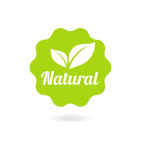 Organic food, farm fresh and natural product sticker and badge for food market, ecommerce, organic products promotion, healthy life and premium quality food and drink. Иллюстрация