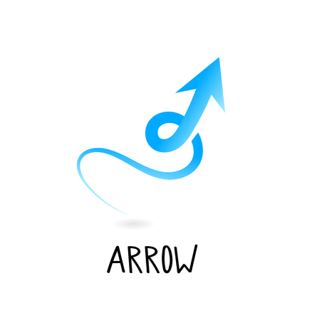 Arrow Icon in trendy flat style isolated. Arrow symbol for your web site design, logo, app, UI.