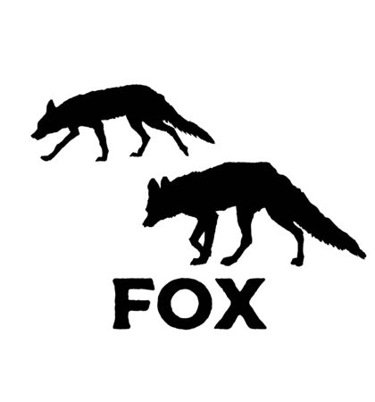 Fox silhouette. Vector illustration isolated on white background 일러스트