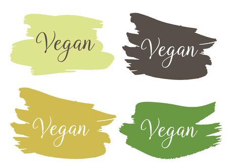 Vegan Bio, Ecology, Organic logo and icon, label, tag. Vegan, raw, healthy food badges, tags set for cafe, restaurants, products packaging.  イラスト・ベクター素材